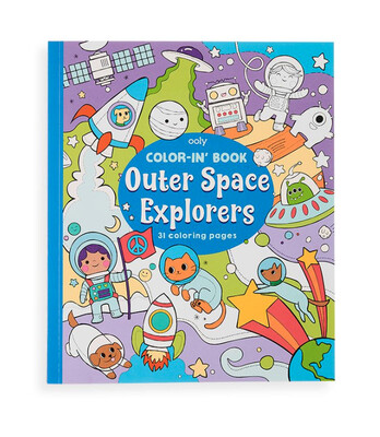 Color-in' Book: Outer Space Explorers