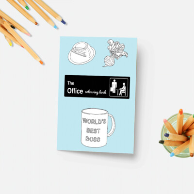 Party Mountain Paper co. - The Office Colouring Book
