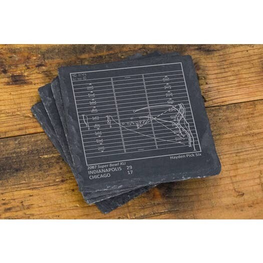 Slate Coasters - Indianapolis Colts Greatest Plays