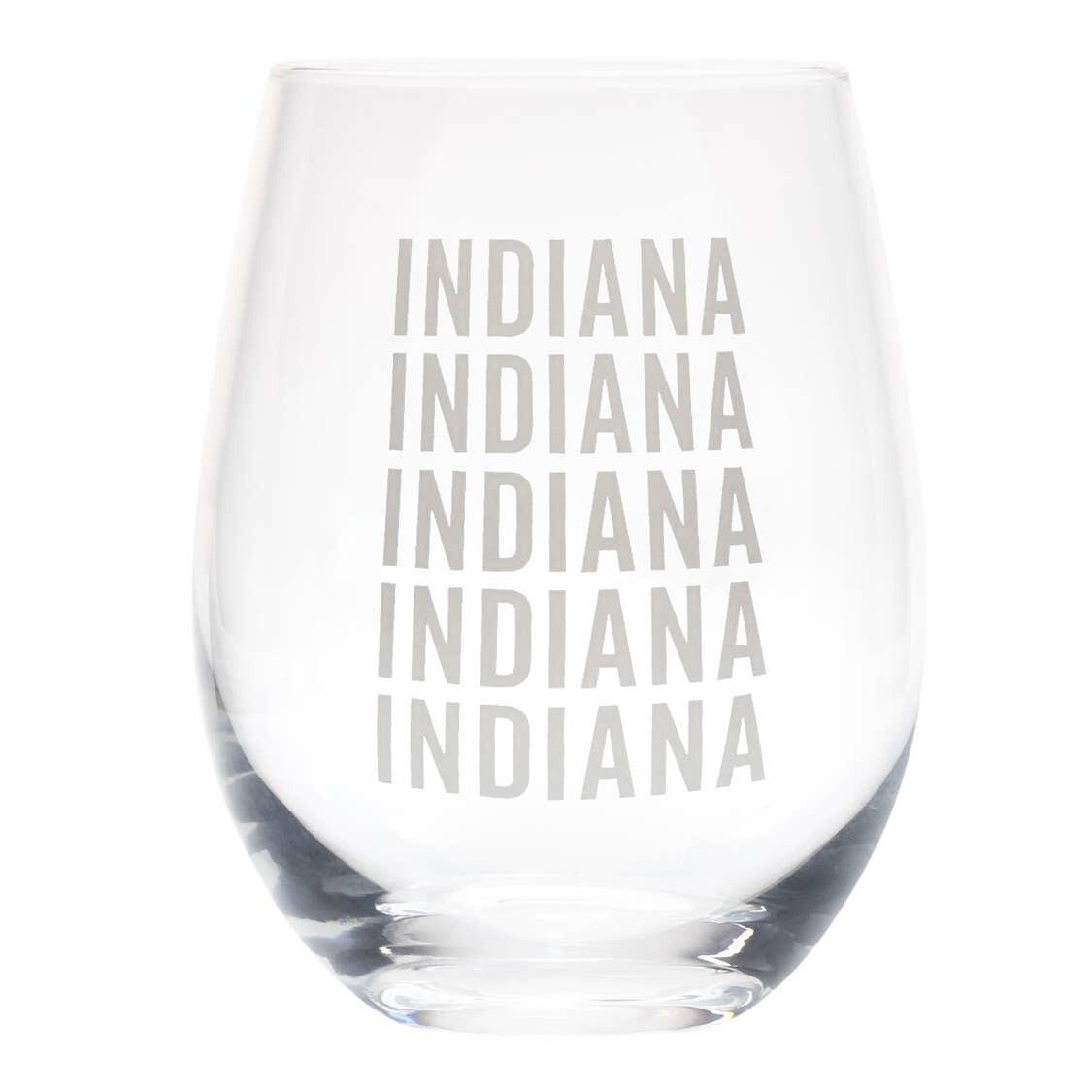 Indiana Wine Glass
