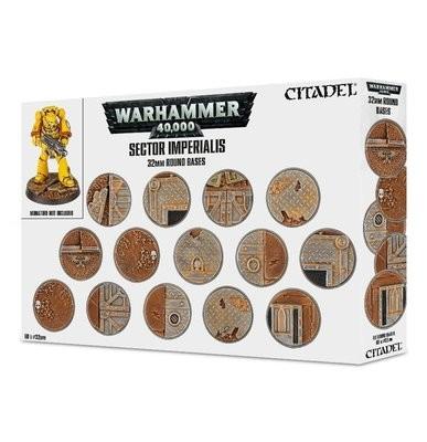 Citadel - Warhammer 40,000: Sector Imperialis: peanas redondas de 32mm