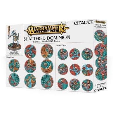 Citadel - Warhammer Age of Sigmar: Peanas redondas Shattered Dominion 25 y 32 mm