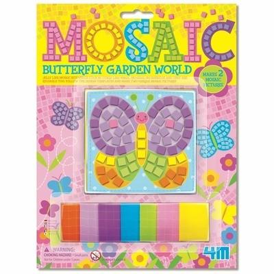 4M - Card/Mosaic Butterfly Garden World