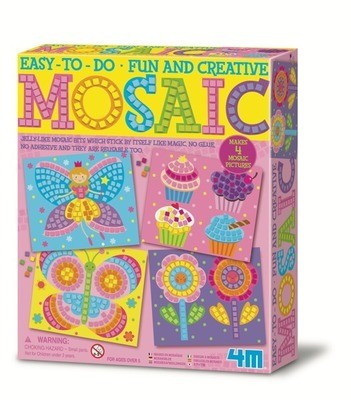4M - Easy To Do Fun And Creative Mosaic – Butterfly, Cupcake & Flowers