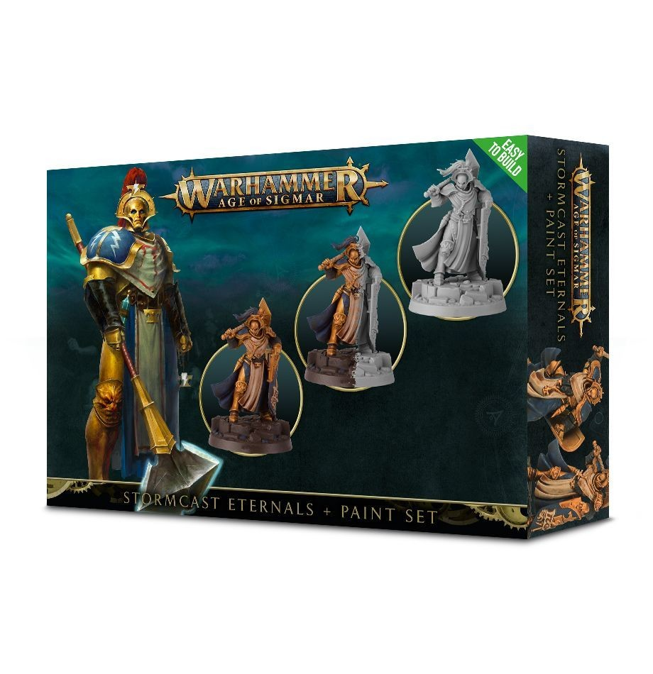 Games Workshop - Warhammer Age of Sigmar: Stormcast Eternals + Paint Set