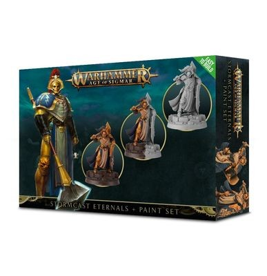 Games Workshop - Warhammer Age of Sigmar: Stormcast Eternals + Paint Set