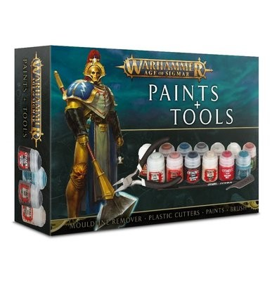 Games Workshop - Warhammer Age of Sigmar: Set de pinturas y herramientas