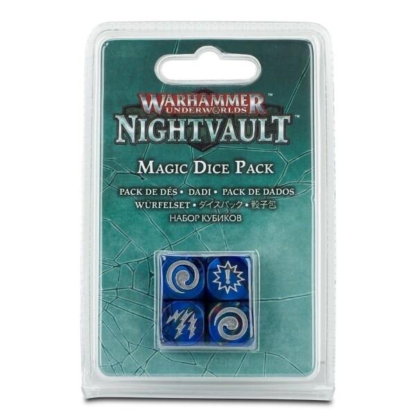Games Workshop - Warhammer Underworlds: Nightvault - Pack de dados magic