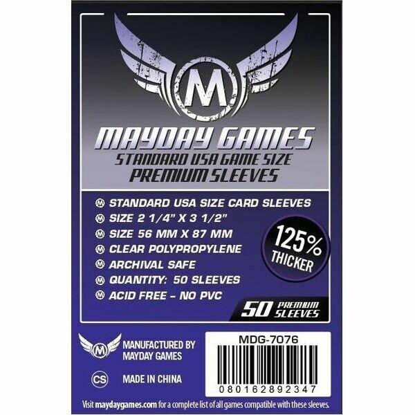 Mayday Games - Funda protectora para cartas de 56mm x 87mm