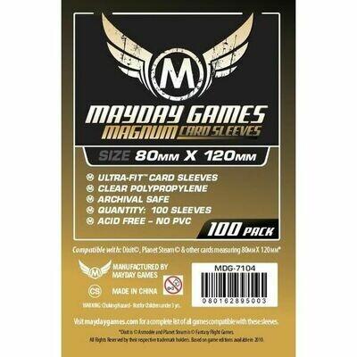 Mayday Games - Funda protectora para cartas de 80mm x 120mm