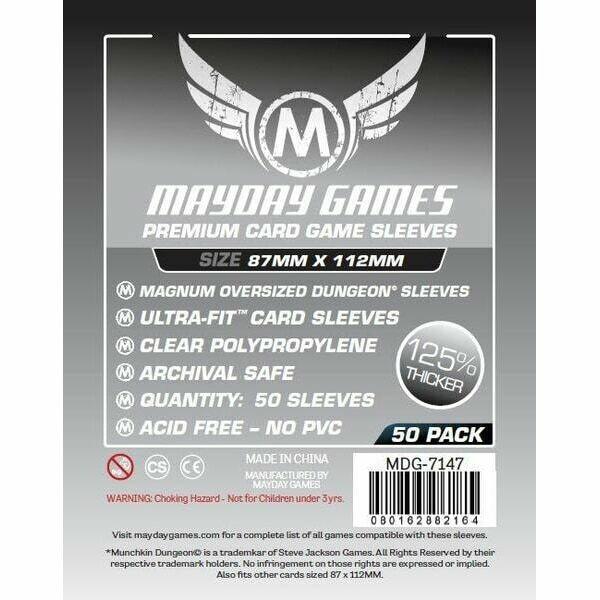 Mayday Games - Funda protectora para cartas de 87mm x 112mm