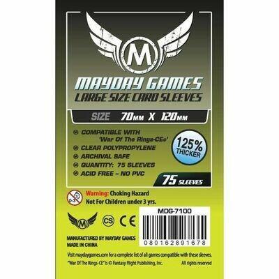 Mayday Games - Funda protectora para cartas de 70mm x 120mm