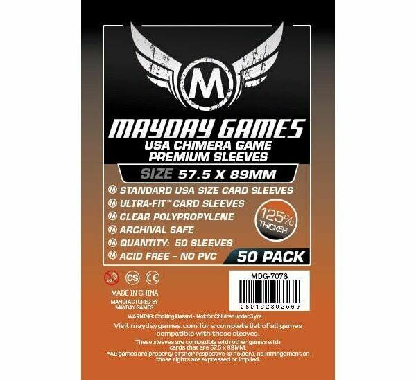 Mayday Games - Funda protectora USA Chimera para cartas de 57.5mm x 89mm