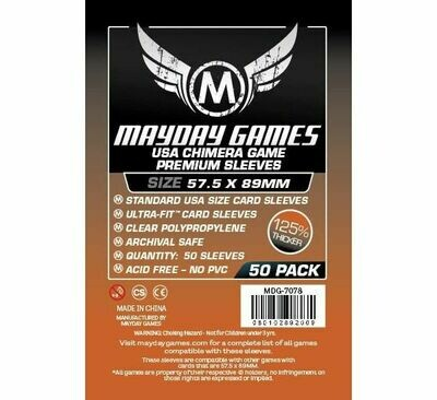 Mayday Games - Funda protectora USA Chimera para cartas de 57.5mm x 89mm