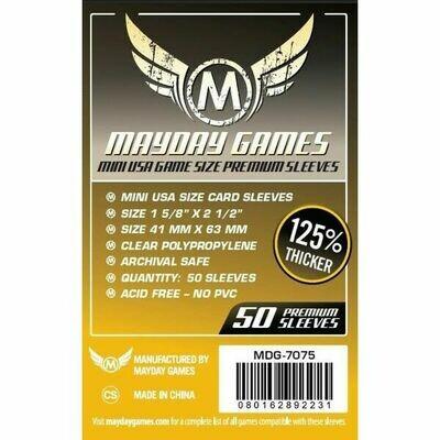 Mayday Games - Funda protectora para cartas de 41mm x 63mm