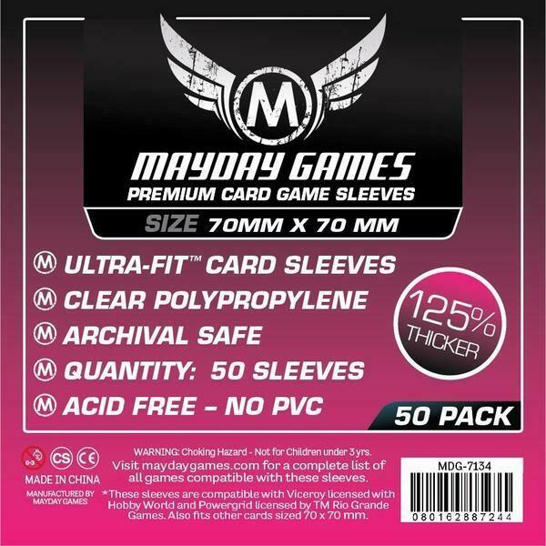 Mayday Games - Funda protectora para cartas de 70mm x 70mm