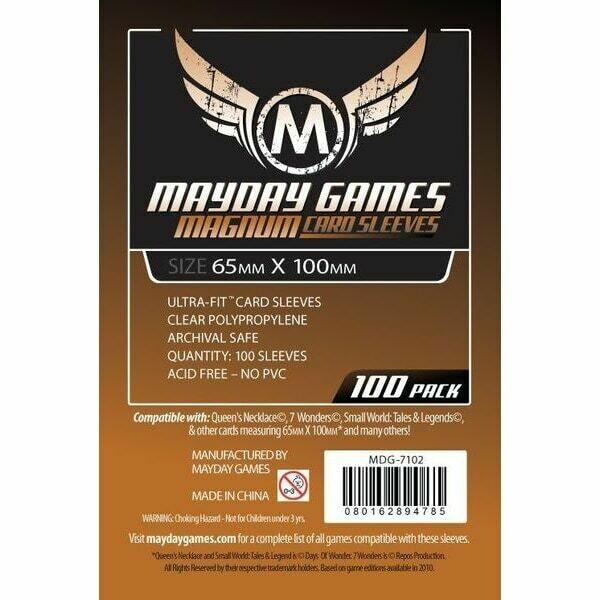Mayday Games - Funda protectora para cartas de 65mm x 100mm