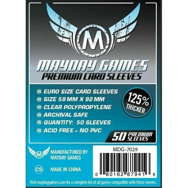 Mayday Games - Funda protectora para cartas de 59mm x 92mm