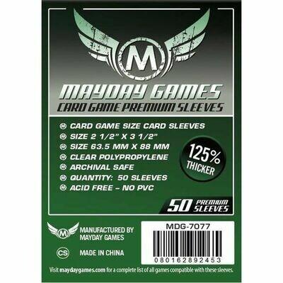 Mayday Games - Funda protectora para cartas de 63.5mm x 88mm