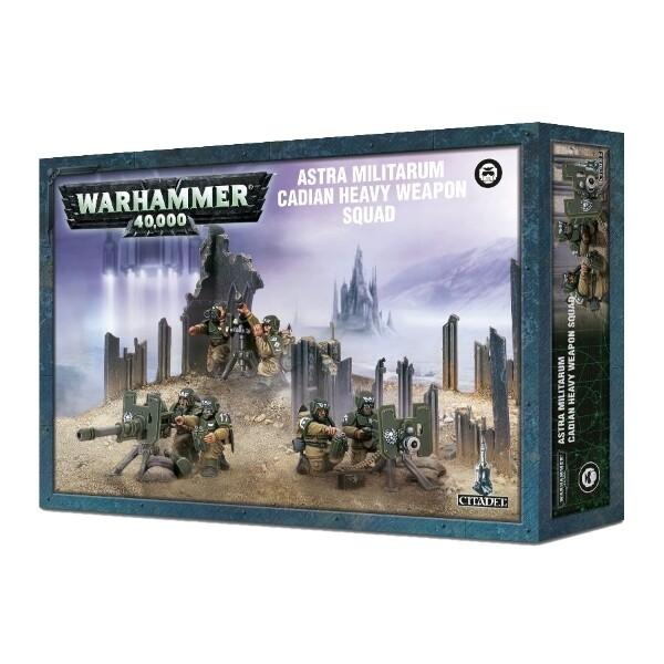 Games Workshop - Warhammer 40,000: Astra Militarum Cadian Heavy Weapon Squad