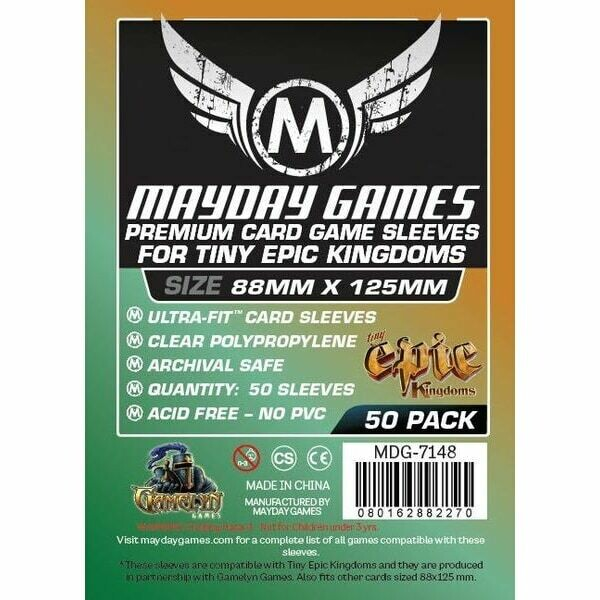 Mayday Games - Funda protectora Tiny Epic Kingdom para cartas de 88mm x 125mm