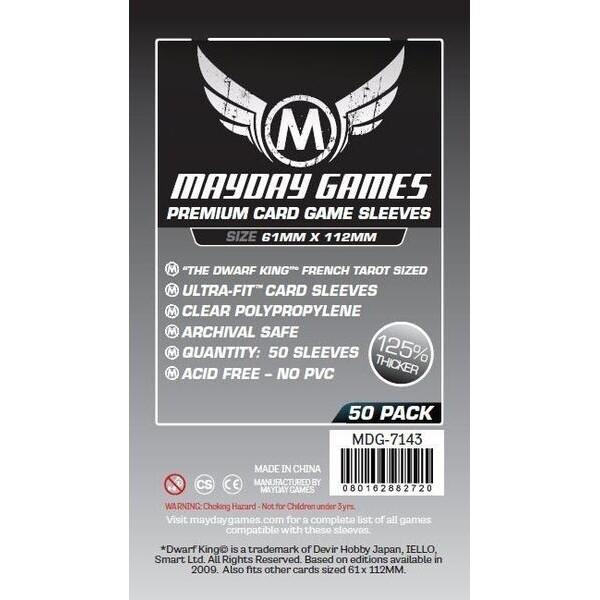 "Mayday Games - Funda protectora ""Dwarf King"" French Tarot para cartas de 61mm x 112mm"