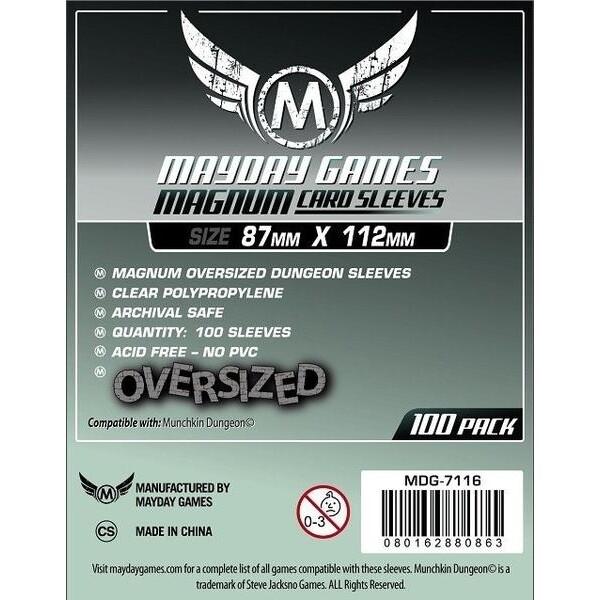 Mayday Games - Funda protectora Magnum Oversized Dungeon para cartas de 87mm x 112mm