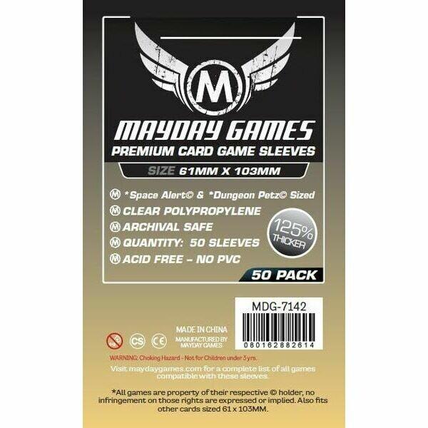 """Mayday Games - Funda protectora """"Space Alert"""" & """"Dungeon Petz"""" para cartas de 61mm x 103mm"""