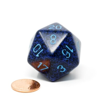 Chessex - Dado D20 de 34mm Moteado Cobalt™