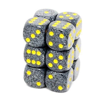 Chessex - Set de 12 dados D6 de 16mm moteados Urban Camo™
