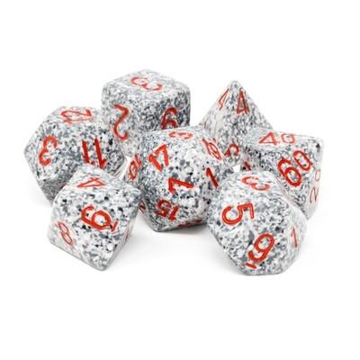 Chessex - Set de 7 dados poliédricos moteados Granite™