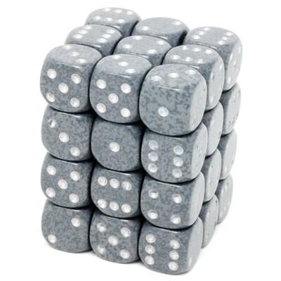 Chessex - Set de 36 dados D6 de 12mm moteados Hi-Tech™
