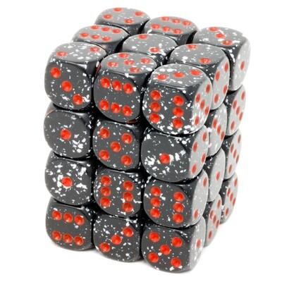Chessex - Set de 36 dados D6 de 12mm moteados Space™