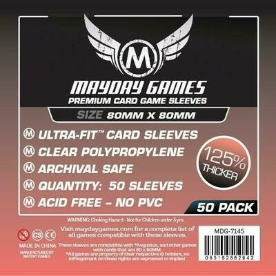 Mayday Games - Funda protectora para cartas de 80mm x 80mm