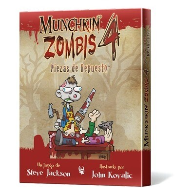 Steve Jackson Games -  Munchkin Zombis 4: Piezas de Repuesto
