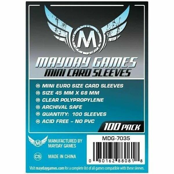 Mayday Games - Funda protectora para cartas de 45mm x 68mm