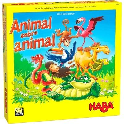 Haba - Animal sobre animal: El tambaleante juego de apilar