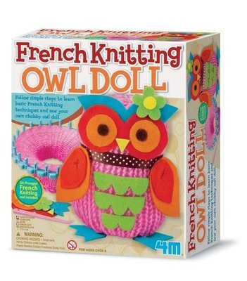 4M - French Knitting Owl Doll