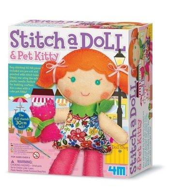 4M - Stitch A Doll & Pet Kitty