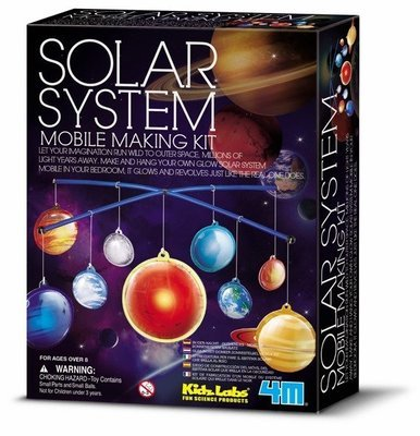 4M - Kidz Labs - Glow Solar System Mobile Making Kit