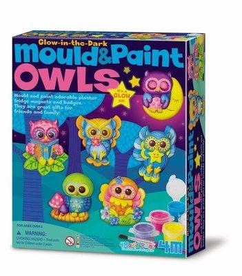 4M - Mould & Paint / Glow Owls
