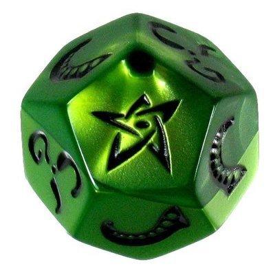 Steve Jackson Games - Cthulhu Dados: dado verde lima, tinta negra