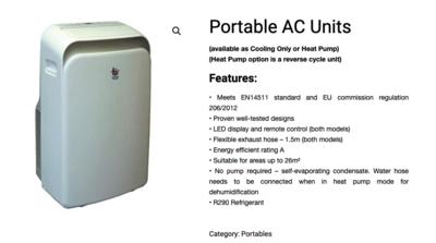 3.5KW Portable Air conditioner