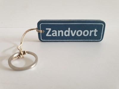 Sleutelhanger Zandvoort hout plaatsnaambord