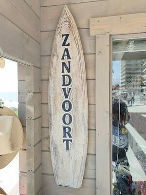 Houten surfboard met Zandvoort