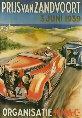 Raceposter Prijs van Zandvoort 1939