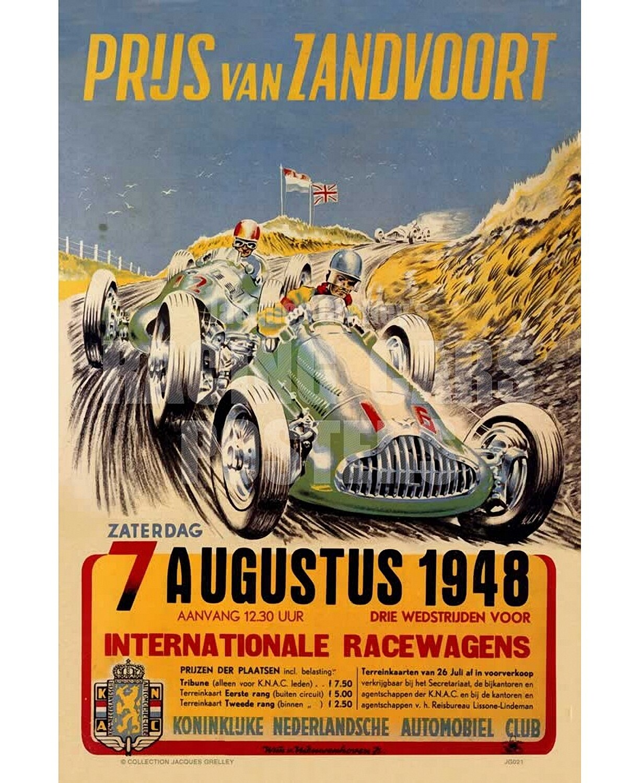 Raceposter Prijs van Zandvoort 1948