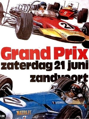Raceposter Grand Prix Zandvoort 1970