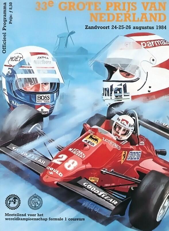 Raceposter van het programmaboekje Grand Prix Zandvoort 1984