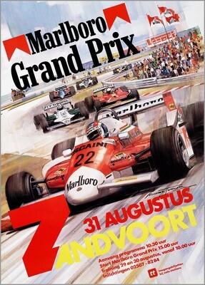 Raceposter Grand Prix Zandvoort 1980